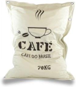 Pufe Saco De Café Good Pufes   Bege
