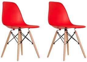 Conjunto 2 Cadeiras Eames Vermelha Dsw - Empório Tiffany