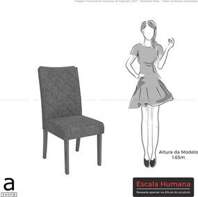 Kit 2 Cadeiras Bauen Estofada Pena Bege / Rústico Malbec