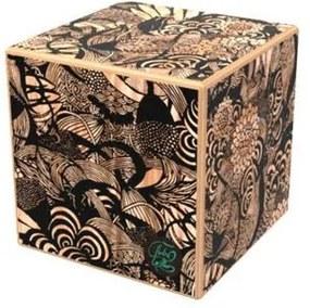 Mesa de Centro Modular Floral em Madeira 45 cm (LARG) - 55277 Sun House