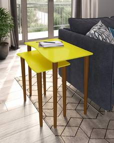 Mesa de Canto Andressa 1183 Amarelo - Portal Acessórios