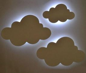 Kit Nuvens Luminária em MDF com LED Luz Fria - Branco