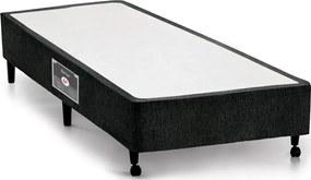 Box Solteiro 88X188X27 Lux Preto Castor