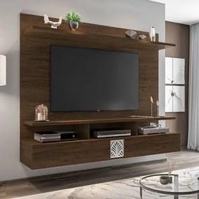 Painel Bancada Suspensa para TV de até 55 Polegadas Amsterdã Cedro - Móveis Leão
