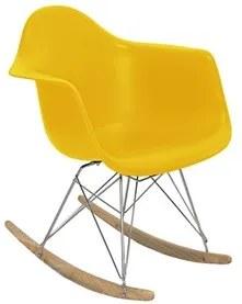Cadeira Veneza de Balanço com Estrutura de Madeira e Alumínio com