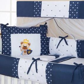 Kit Berço Urso Imperial Marinho 9 Peças