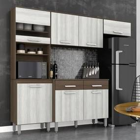 Cozinha Compacta Sofia 7 Portas 2 Gavetas - Movemax