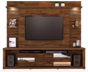 Estante para TV até 55 polegadas, Rústico Malbec, Horizon