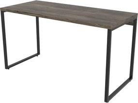 Mesa Para Escritório 1,35x75x60cm Estilo Industrial Kuadra ME135 Carvalho Dark - COMPACE