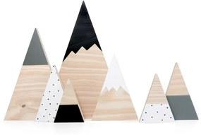Kit montanhas nórdicas em madeira