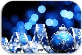 Tapete Decorativo Lar Doce Lar Natal 40cm X 60cm Azul