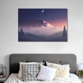 Quadro Decorativo de Parede Montanha lua 60x43cm Quarto Sala