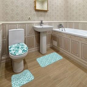Jogo de Banheiro Floral VerdeÚnico