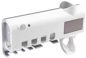 Porta Escova de Dentes Esterilizador UV Recarregamento Solar