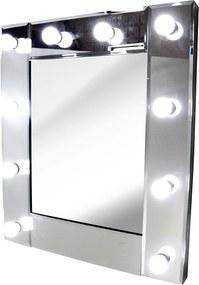 Espelho Quadrado com Moldura Espelhada Estilo Camarim