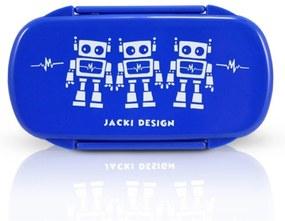 Pote para Lanche Infantil Robô Jacki Design Sapeka Azul Escuro