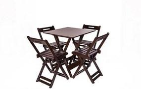 Mesa Dobrável com 04 Cadeiras Las Vegas