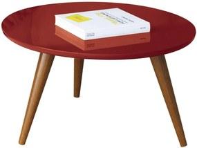 Mesa de Centro Decorativa Lyam Decor Sofia Vermelho