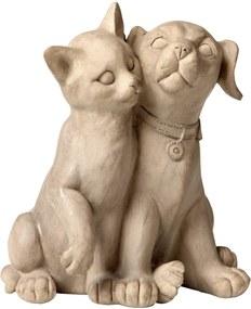 Estatueta Gato e Cachorro