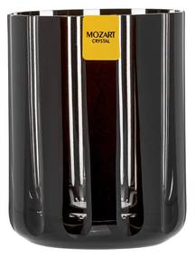 Copo de Cristal Lapidado Artesanal p/ Whisky - Preto - 18  Preto - 18