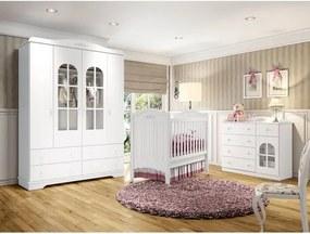 72048f28fe Quarto de Bebê Completo Provençal 100% MDF - Branco