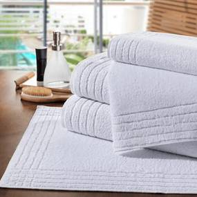 Toalha de Piso Para Hotel Platinum 50x80cm - 700g/m2
