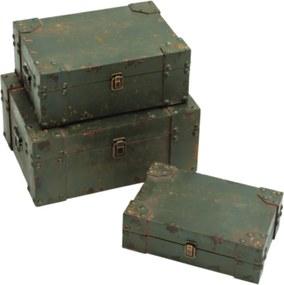 caixa bau 3pçs ARMAZEN madeira Ilunato AM0011
