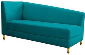 Recamier Valéria 140cm Lado Direito Suede Azul Turquesa - ADJ Decor