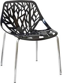 Cadeira Caracas com Estrutura de Alumínio e Encosto de Abs Preto
