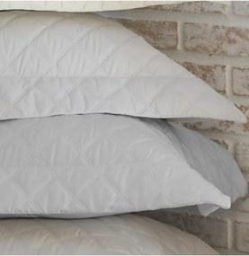 Colcha Trapuntada Ônix Com Porta Travesseiro Cinza - Scavone