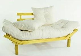 Sofá Cama Futon com Almofadas Cru 1854.2 Country Comfort Amarelo - Mão & Formão