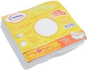 Toalha Luxo Pinte e Borde - Branca - 3 unidades - Cremer