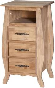 Mesa de Cabeceira Rústica 3 Gavetas com Nicho Arroio - Wood Prime Biomóvel 1028570
