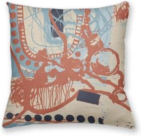 Almofada Decorativa Own Pintura Abstrata Laranja 45x45 - Almofada Completa