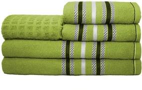 Jogo de Banho Stella 5 peças 100% Algodão Verde