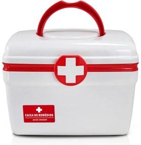 Caixa de Remédios (P) Jacki Design Organizadores Vermelho