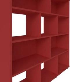 Estante Livreiro Book com Nichos Vermelho - Artely
