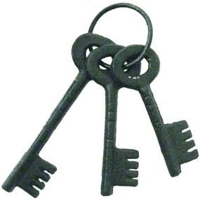 molho de chaves decorativa HISTORY metal cinza Ilunato XY0082