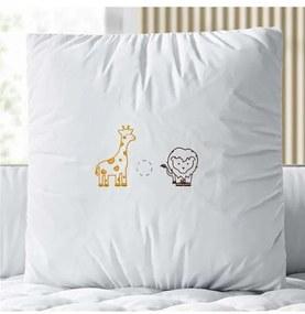 Almofada Leão e Girafa Safári Baby 38cm Grão de Ge