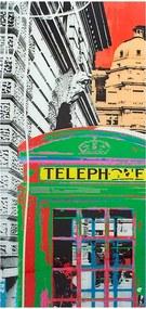 Quadro de Vidro Cabine Telefônica Verde