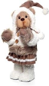 Urso de Decoração Para Natal Com 37cm 1 Unidade Cor Marrom