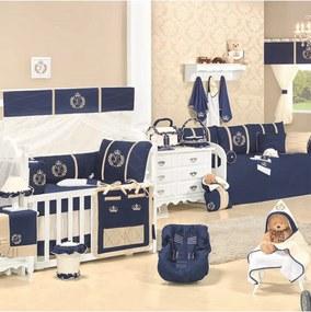 Quarto Para Bebê Sem Cama Babá Padroeira Baby Feito A MÁo Luxo Marinho