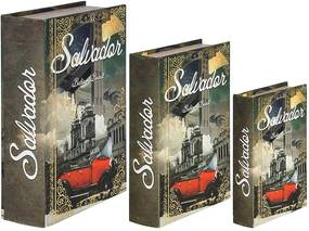 Book Box Salvador Calhambeque Oldway - 36x25x10cm