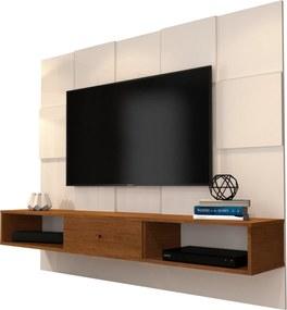 Painel para TV JB 5025 Pérola com Caramelo - JB Bechara