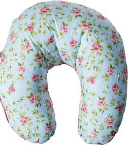 Almofada de Pescoço - Alan Pierre Baby - Flor Azul Com Pink