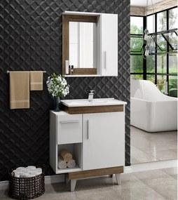 Conjunto de Banheiro Linea JB-700 Branco/Cartagena Jaeli