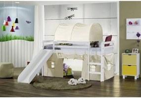 Cama Infantil com Escorregador, Túnel e Tenda Bege - Casatema