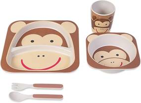 Kit de Alimentação Infantil Macaco MarromÚnico