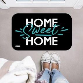 Tapete Decorativo Home Sweet Home Preto Verde40x60cm