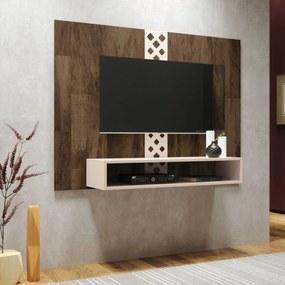 Painel Bancada Suspensa Para TV até 47 Pol. Form Deck/Off White - HB Móveis